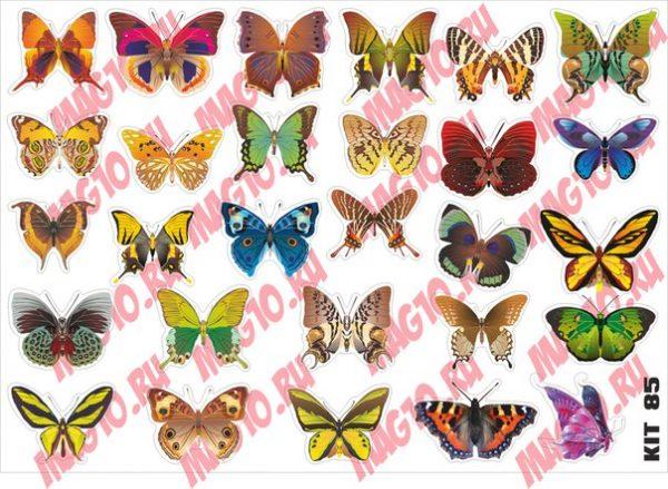 Kit 4085 Набор наклеек Бабочки 2