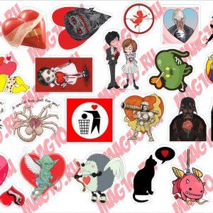 Kit 4079 Набор наклеек День святого Валентина
