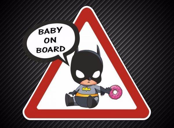 Наклейка ребёнок в машине Бэтмен