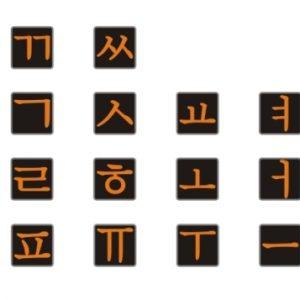 Корейские наклейки на клавиатуру
