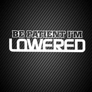 Be patient i`m lowered