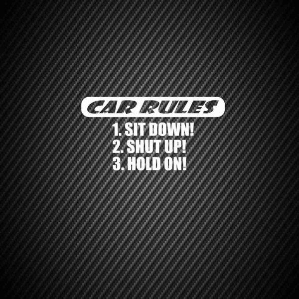 Наклейка Правила автомобиля